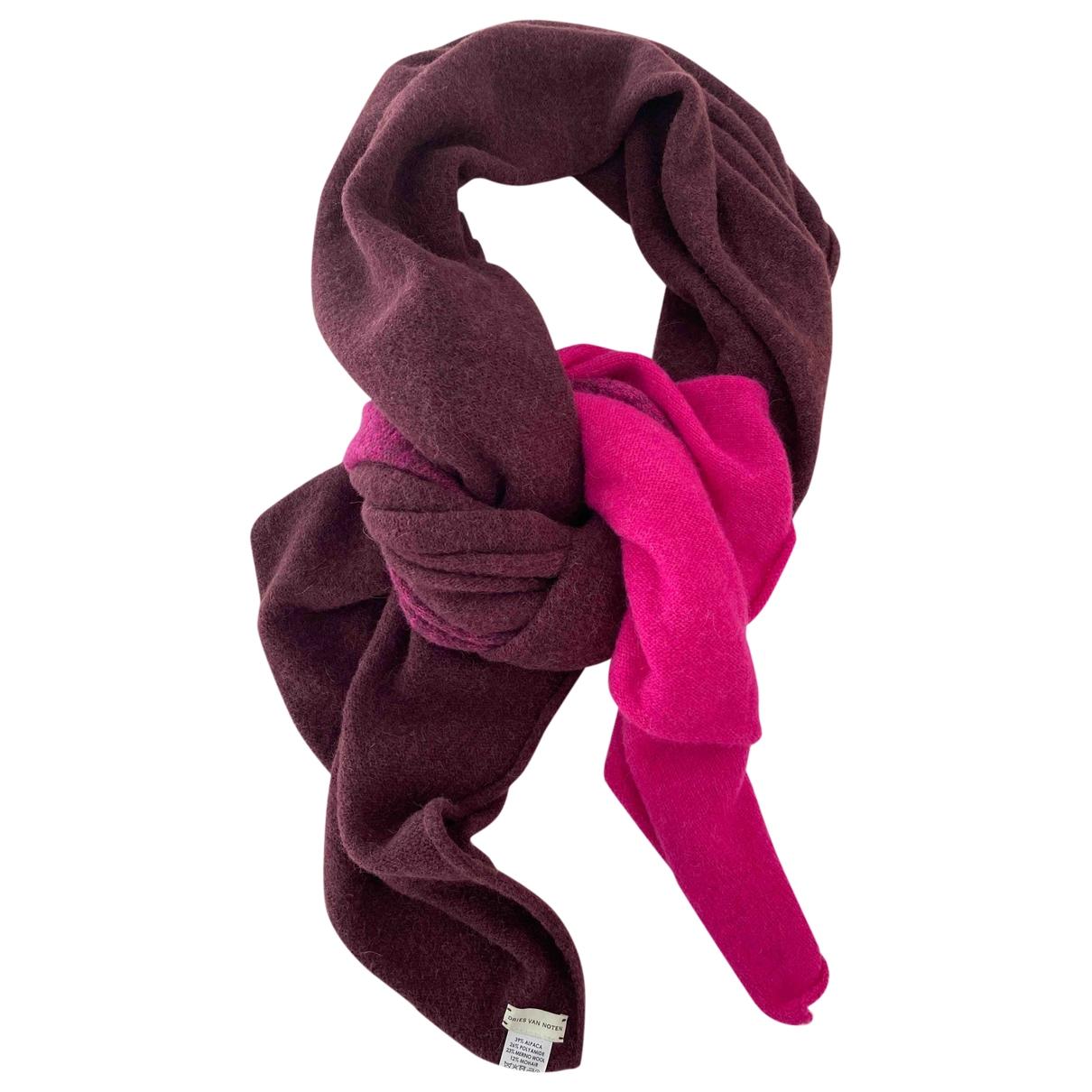 Dries Van Noten \N Pink Wool scarf for Women \N
