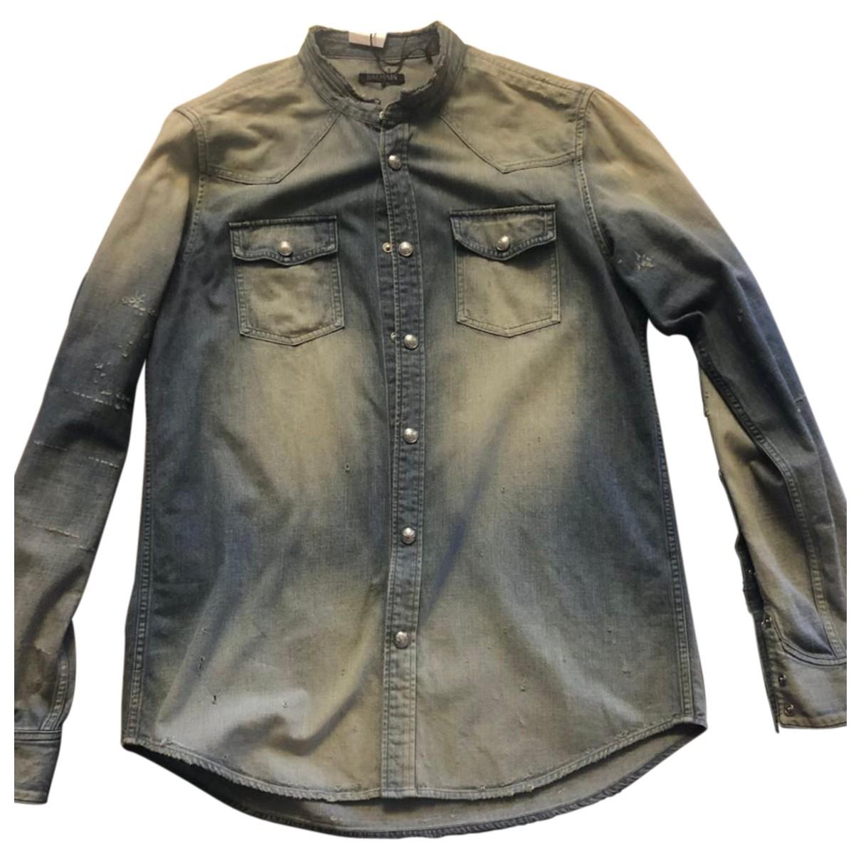 Balmain N Blue Denim - Jeans Shirts for Men 42 EU (tour de cou / collar)