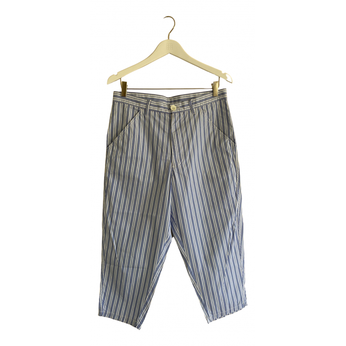 Comme Des Garcons N Blue Cotton Trousers for Men XS International