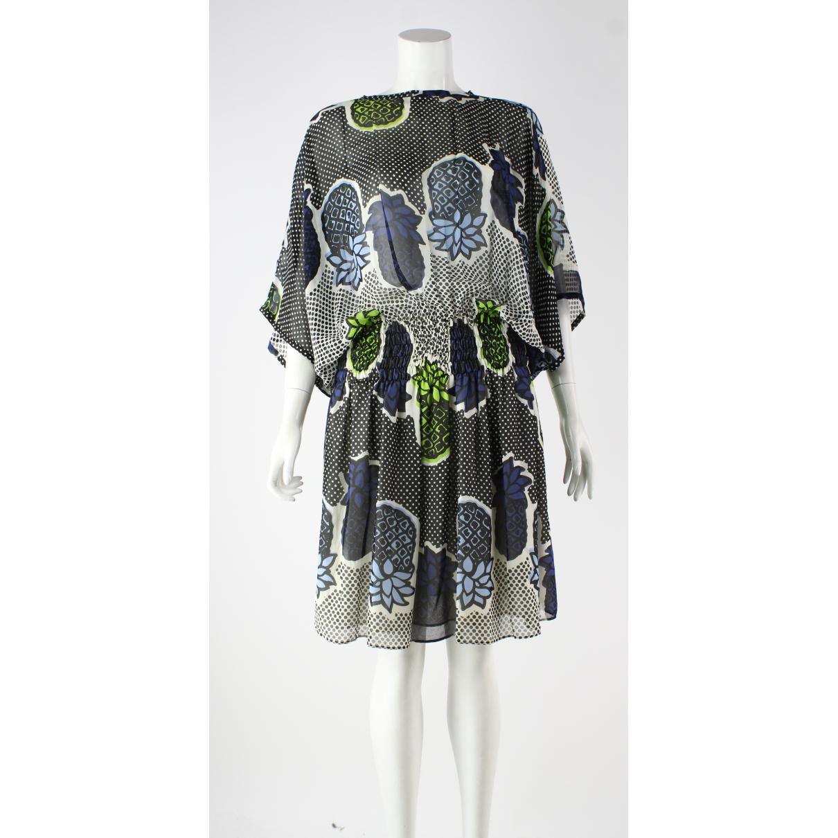 Moschino Cheap And Chic \N Kleid in  Blau Seide