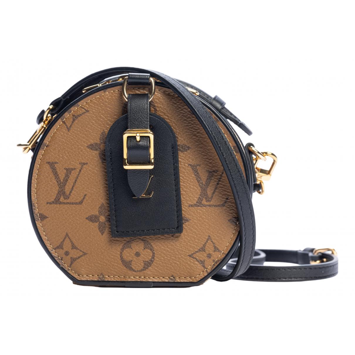Louis Vuitton - Sac a main Boite chapeau souple pour femme en toile - marron