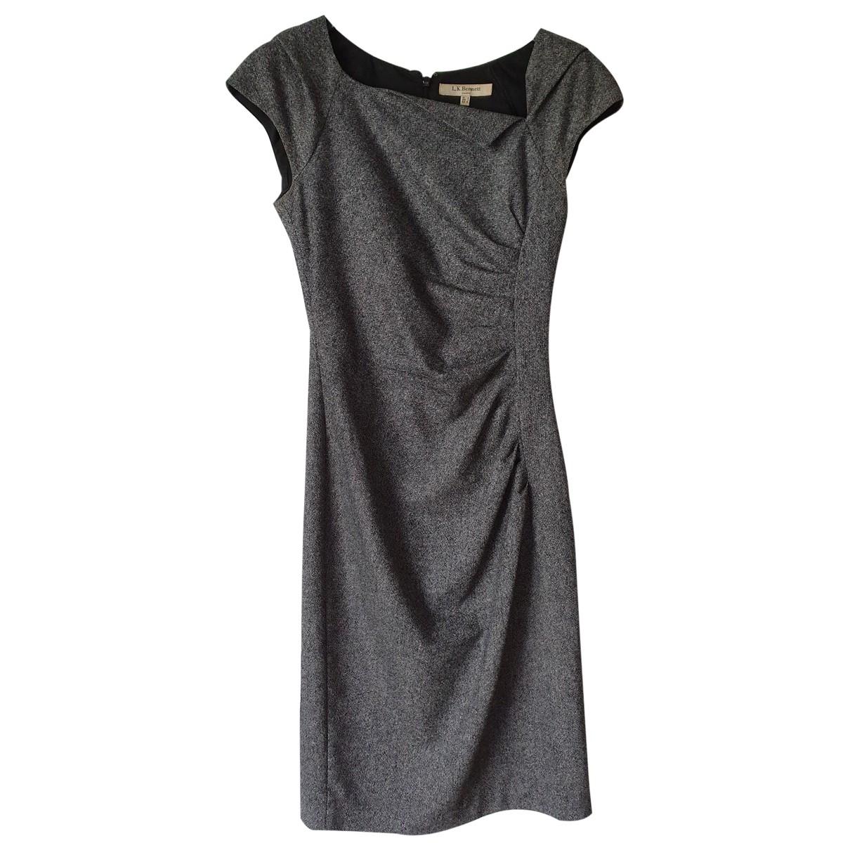 Lk Bennett \N Kleid in  Grau Wolle