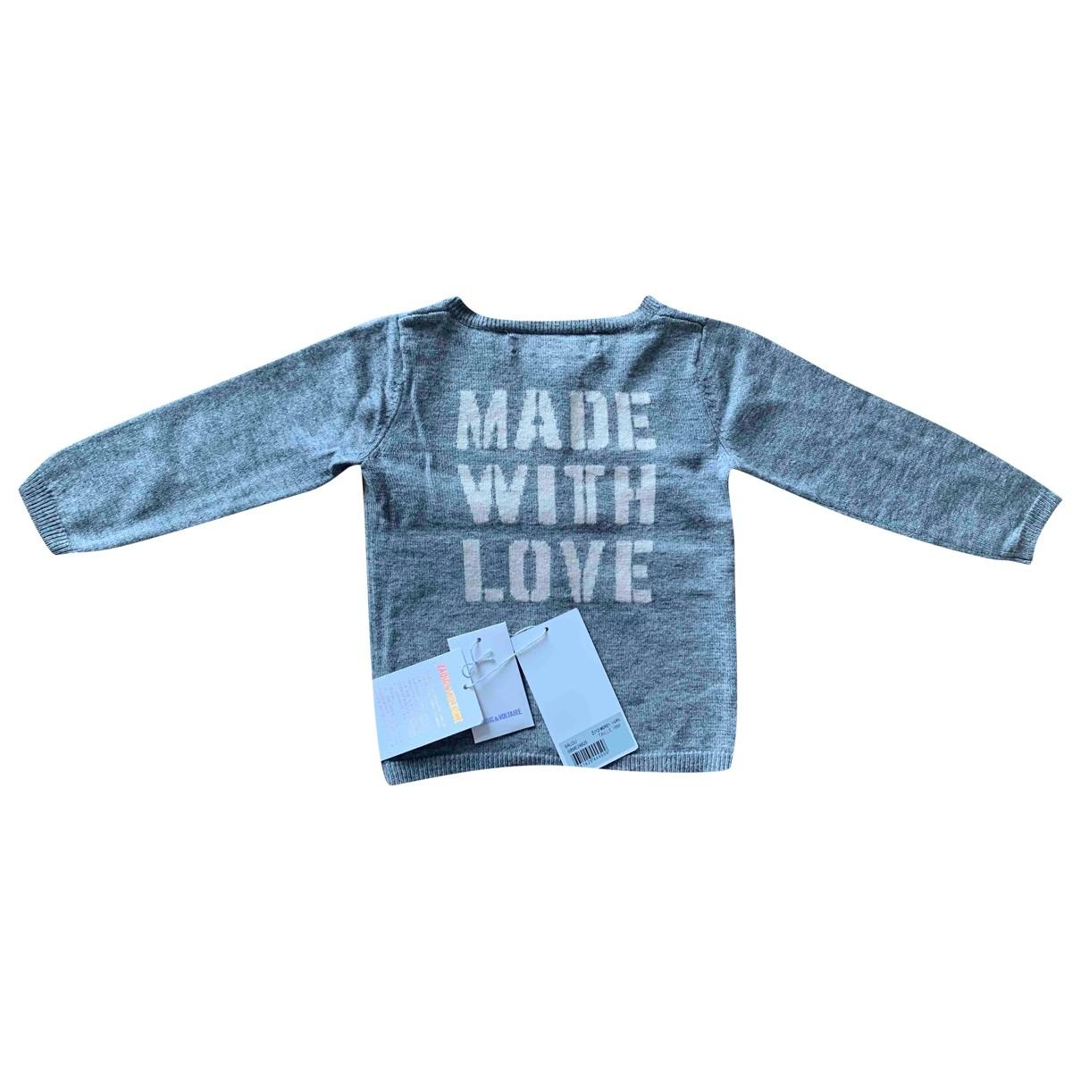 Zadig & Voltaire \N Pullover, StrickJacke in  Grau Wolle