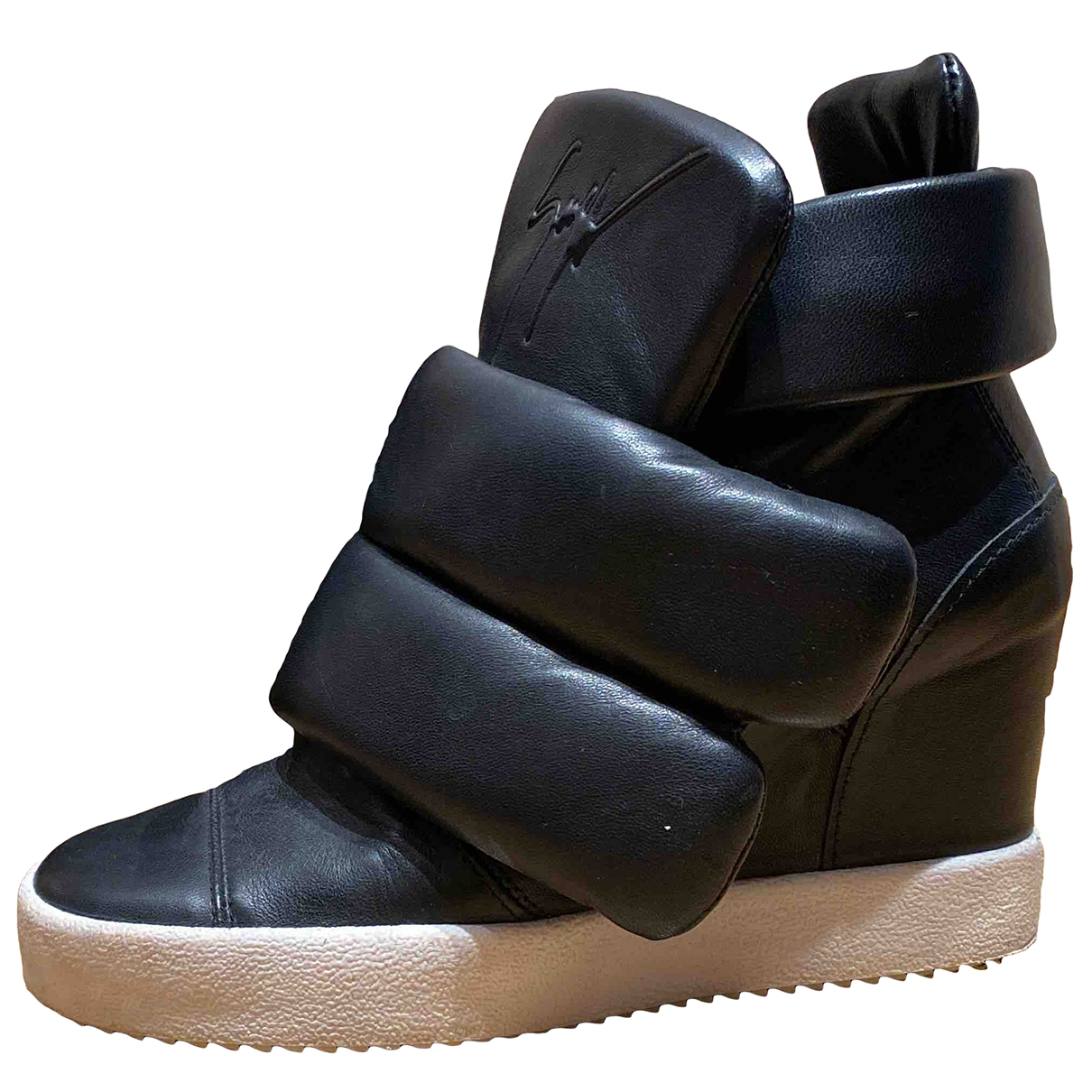 Giuseppe Zanotti \N Black Leather Trainers for Women 40 EU