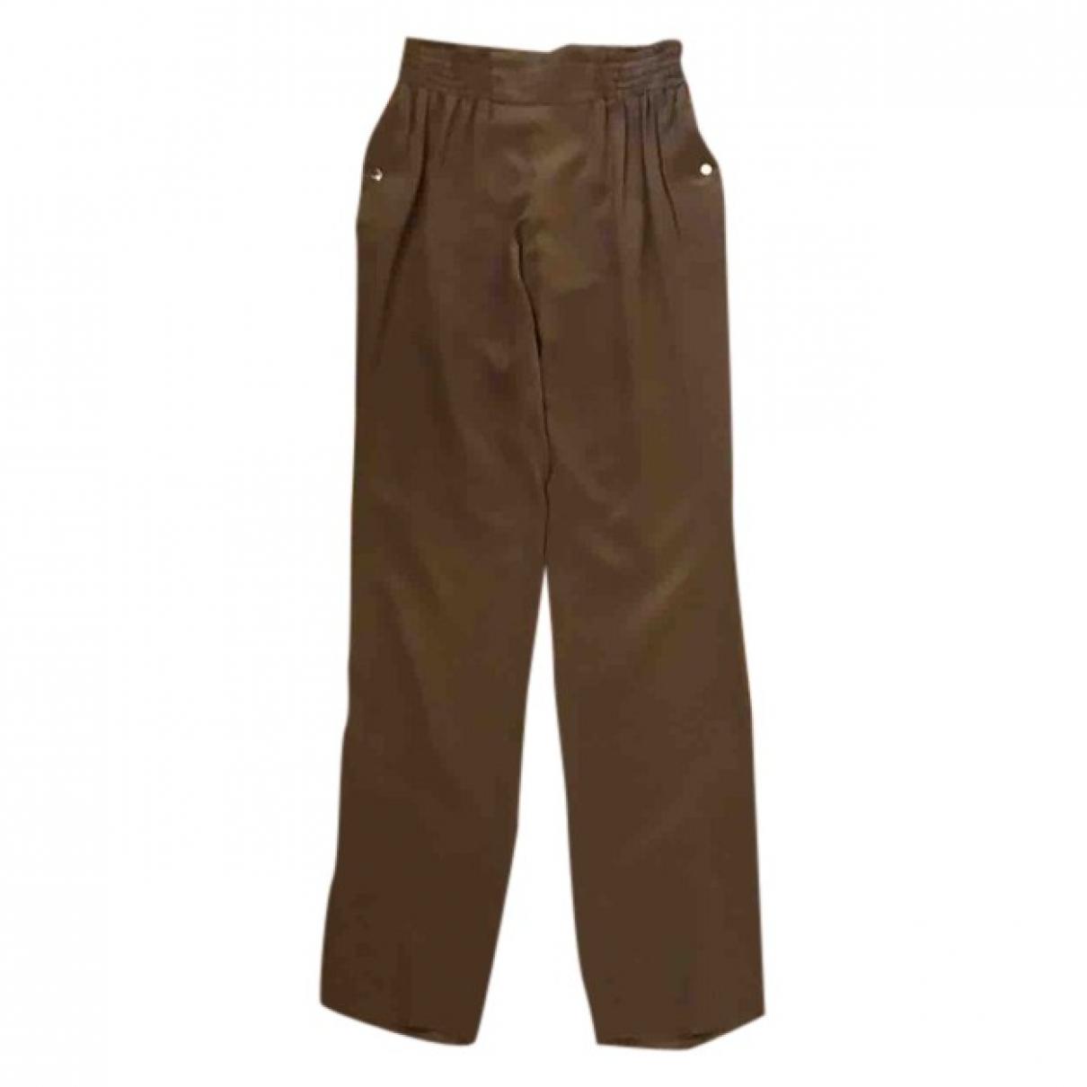 Gucci \N Black Silk Trousers for Women S International