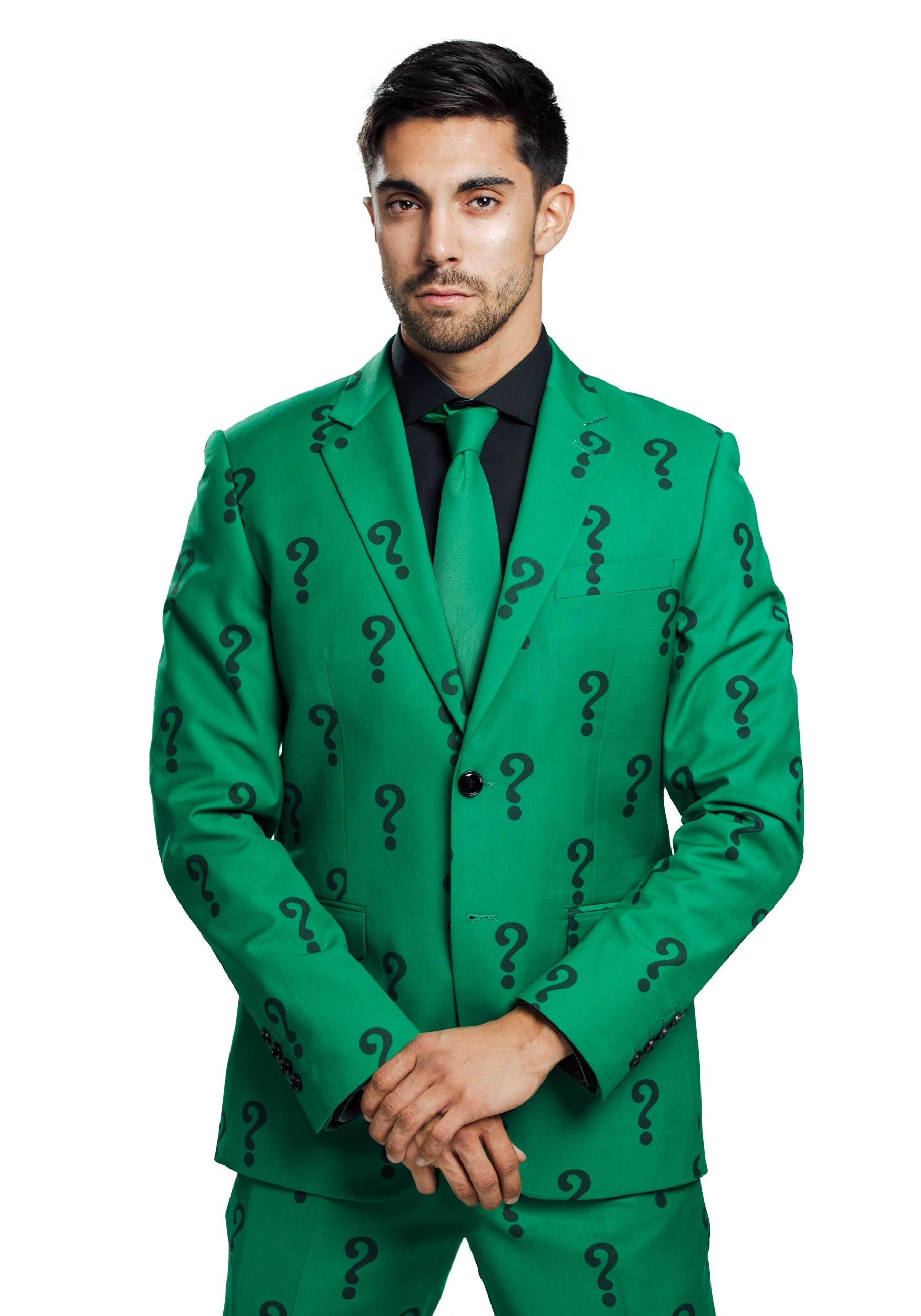 Authentic The Riddler Slim Fit Suit Jacket