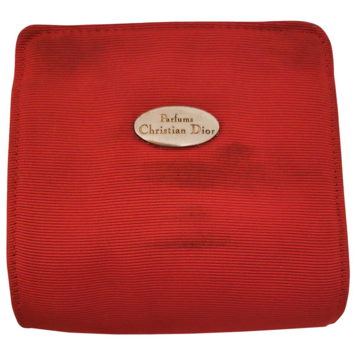 Dior - Sac de voyage   pour femme en toile - rouge