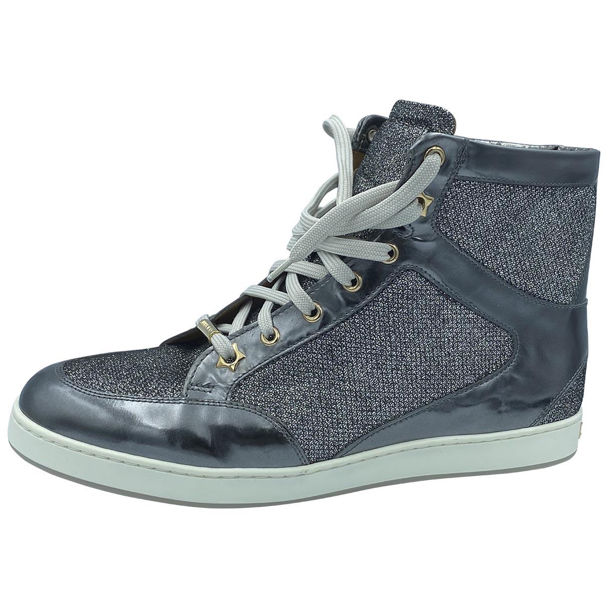 Jimmy Choo \N Sneakers in  Silber Leinen