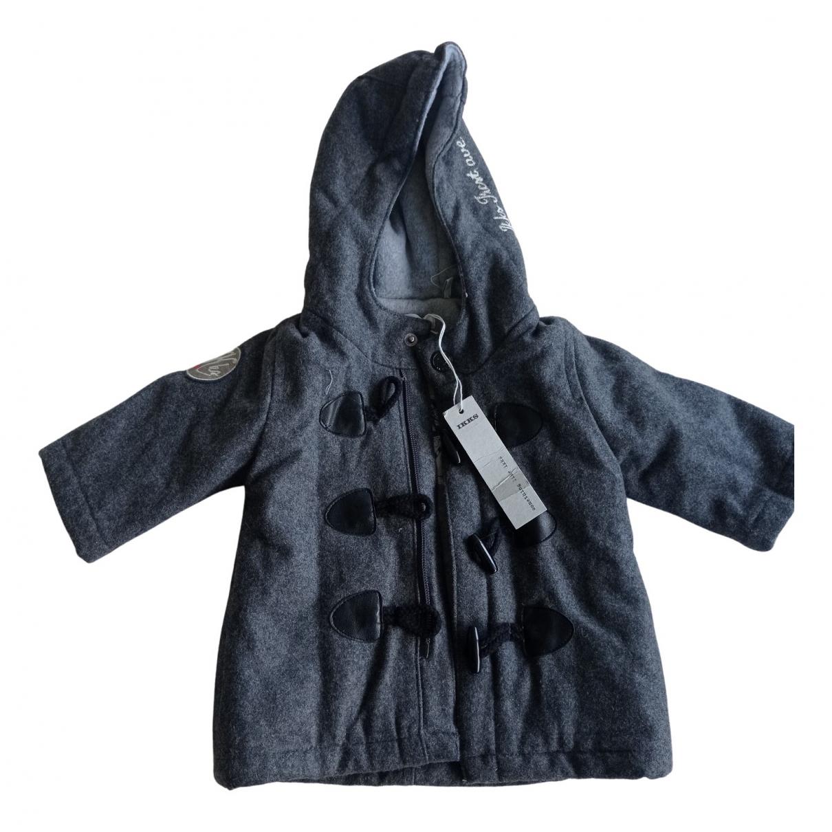 Ikks - Blousons.Manteaux   pour enfant en laine - gris