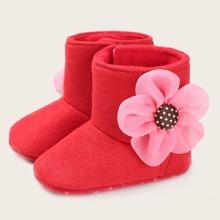 Baby Maedchen Stiefel mit Blumen Dekor