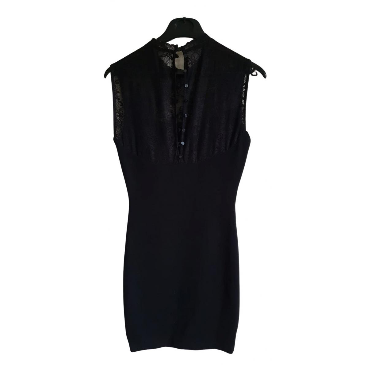 Zara \N Kleid in  Schwarz Synthetik