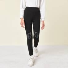 Girls Unicorn Print Leggings