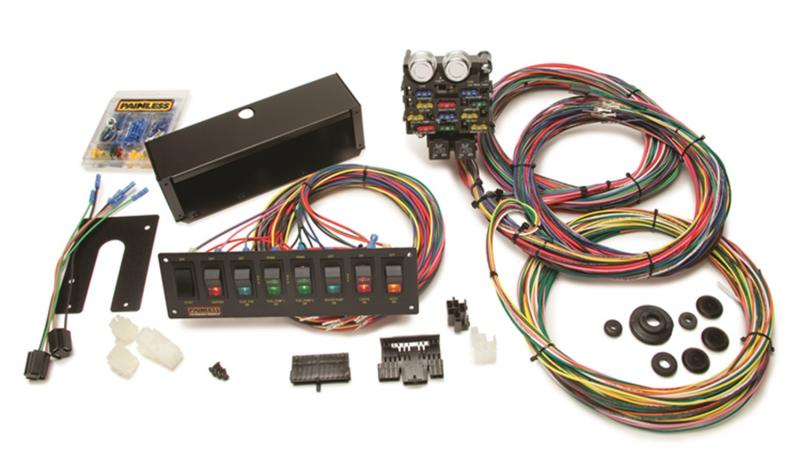Painless Wiring 50003 Pro Street Chassis Harness w/Switch Panels-21 Circuits