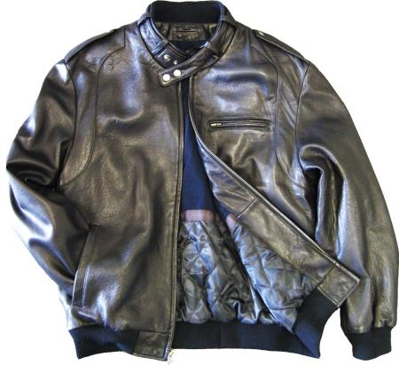 Mens Leather  Soft Lambskin Black tanners avenue jacket
