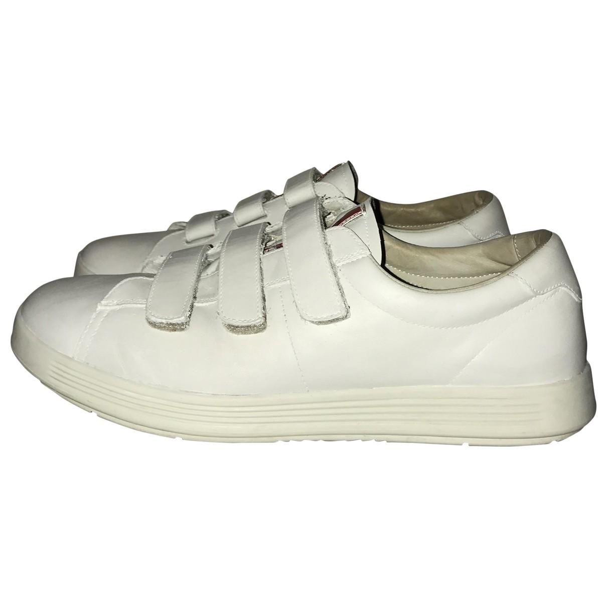 Prada \N White Leather Trainers for Men 9.5 UK