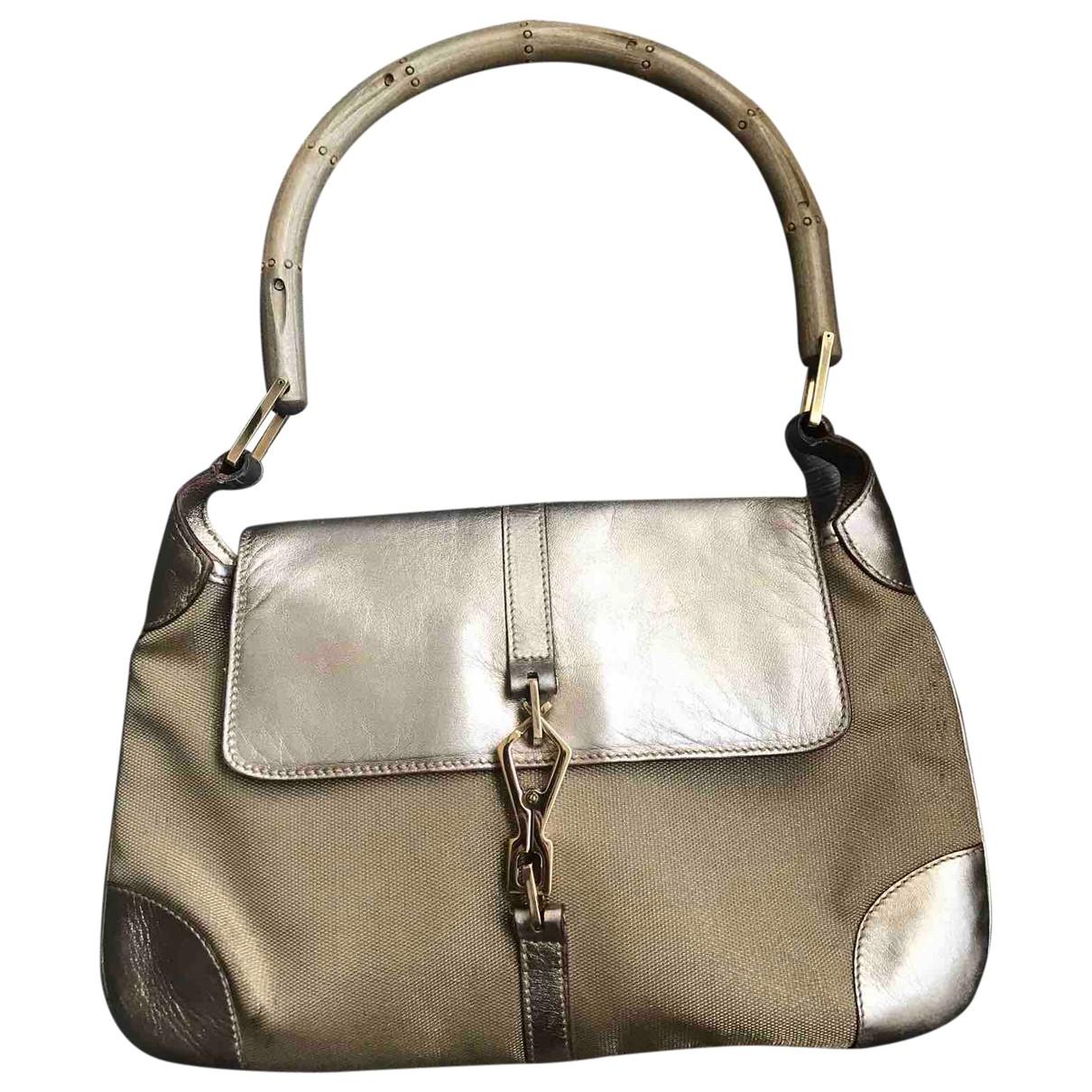Gucci Jackie Vintage  Gold Cloth handbag for Women \N