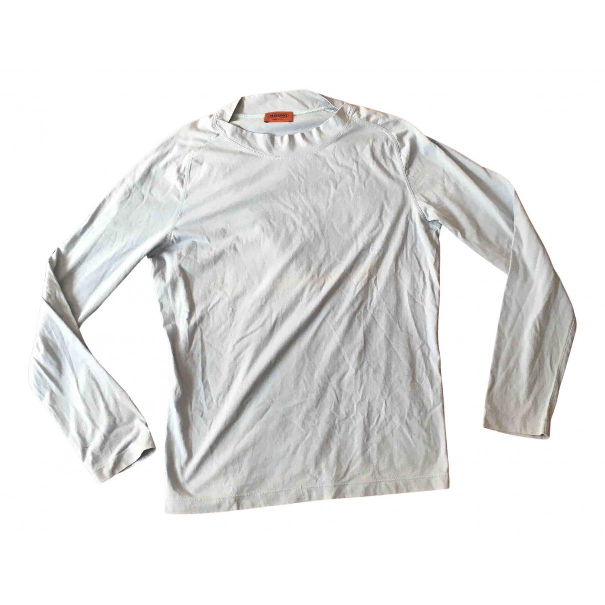Missoni \N Pullover.Westen.Sweatshirts  in  Tuerkis Baumwolle