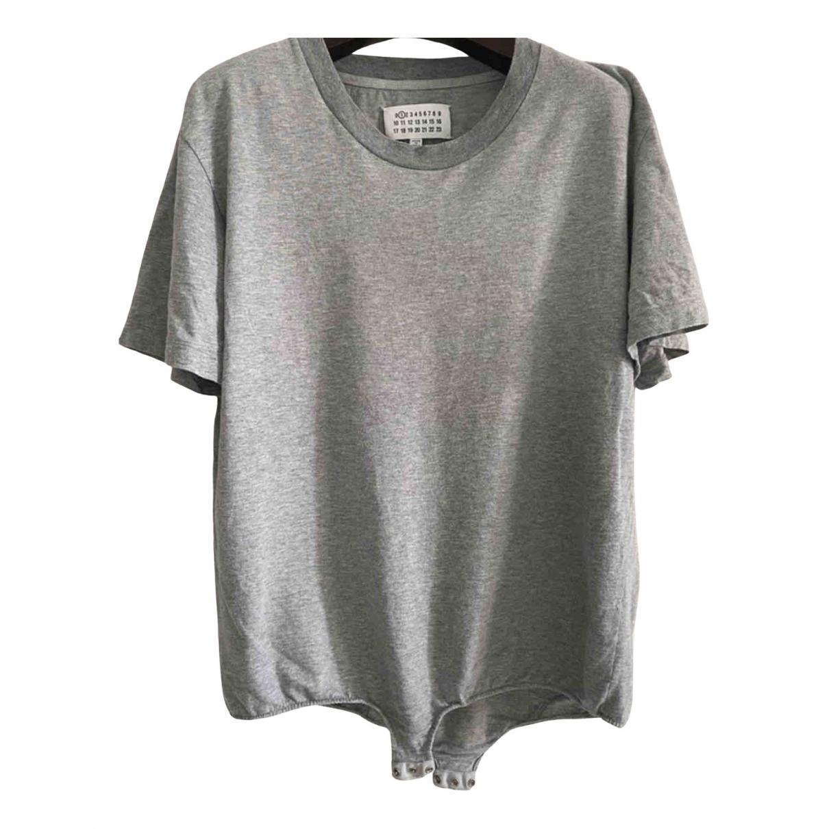 Maison Martin Margiela - Top   pour femme en coton - gris