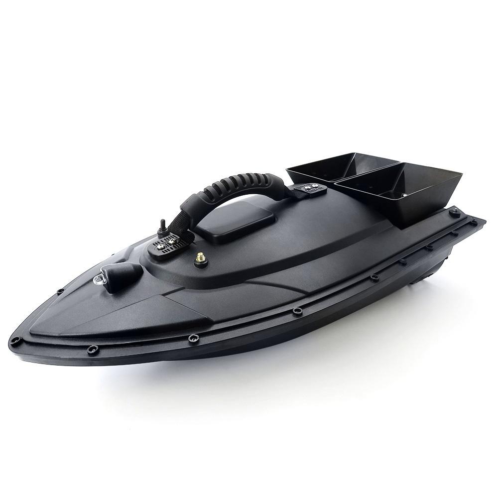 Flytec 5 Generation Smart Fishing Bait RC Boat with Double Motors 500M RC Distance 1.5KG Loading LED Light - Black