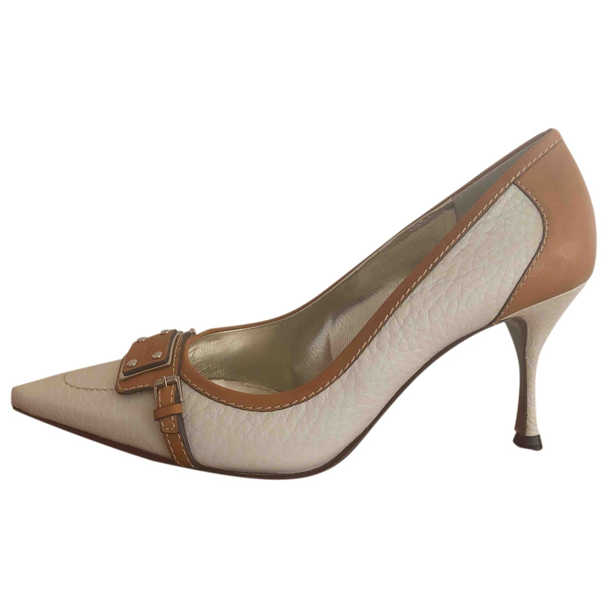 Dolce & Gabbana \N White Leather Heels for Women 38.5 EU
