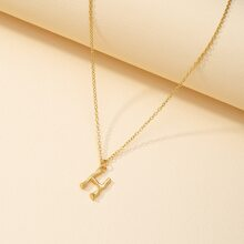 Metal Letter Charm Necklace
