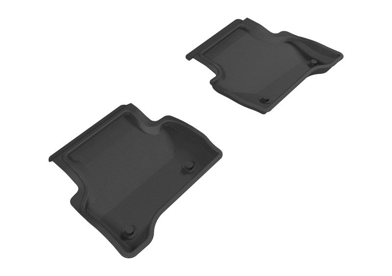 3D MAXpider 2017-2020 Jaguar XE Kagu 2nd Row Floormats - Black