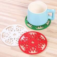 3pcs Christmas Snowflake Design Coaster
