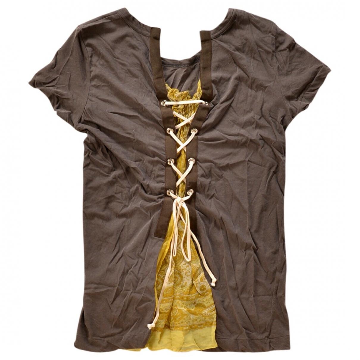 Sacai - Top   pour femme en coton - marron