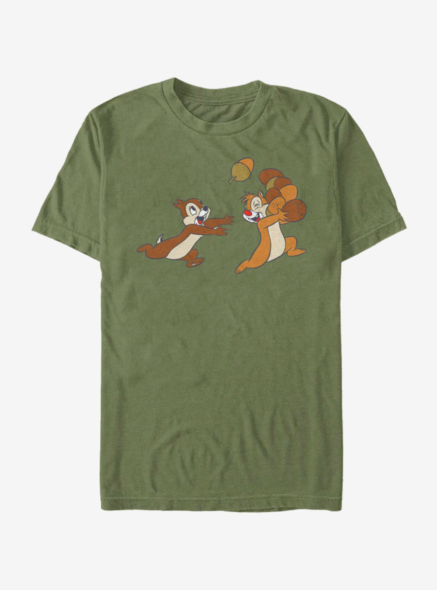 Disney Chip and Dale Acorn Big Characters T-Shirt
