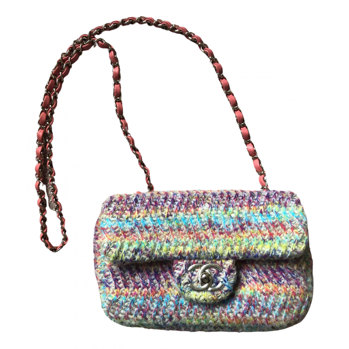 Chanel Timeless/Classique Handtasche in  Bunt Wolle