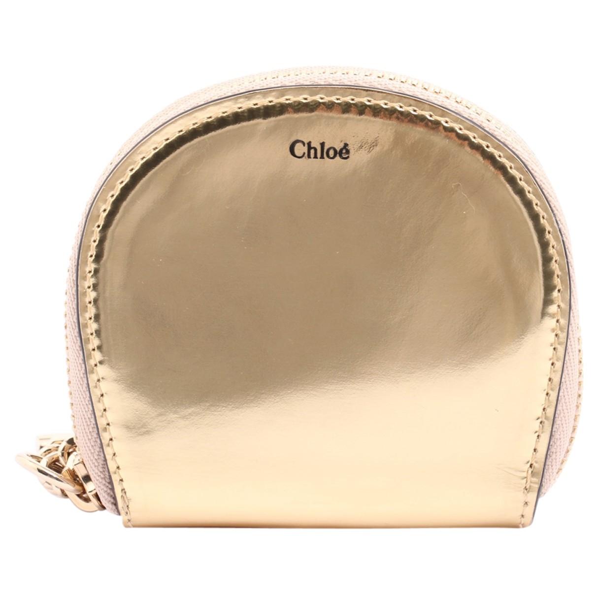 Chloe \N Kleinlederwaren in  Gold Leder