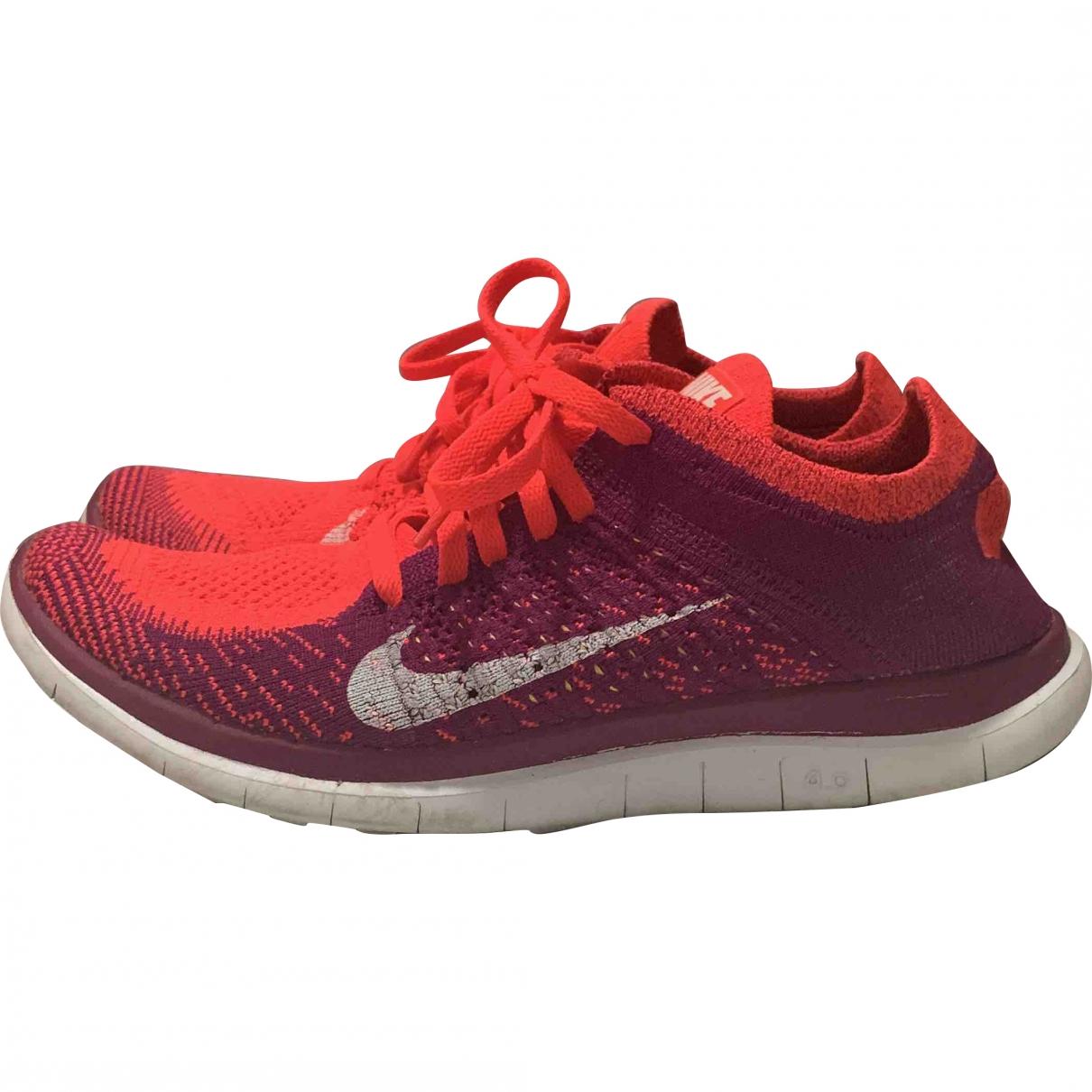 Nike \N Red Cloth Trainers for Women 39 EU