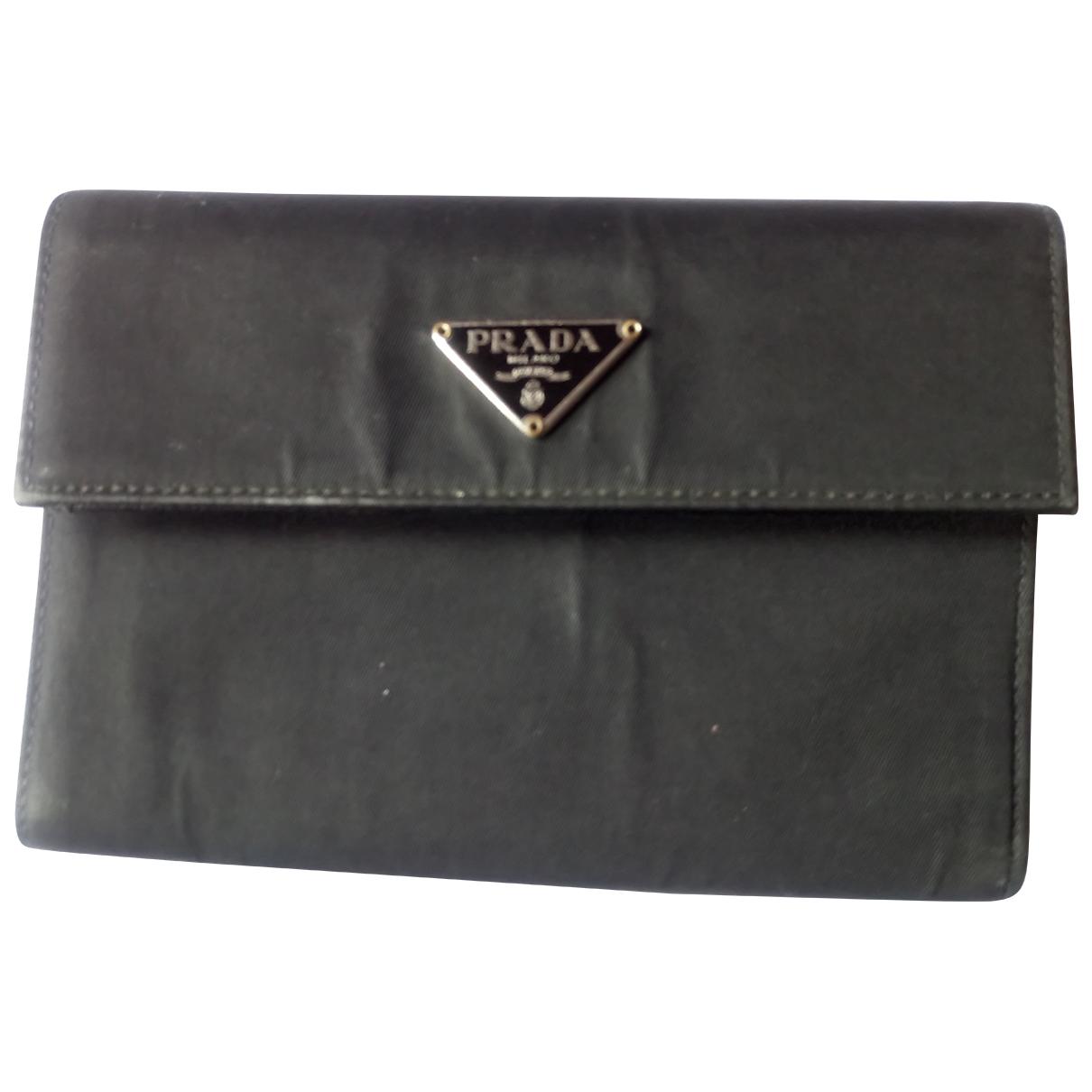 Prada - Portefeuille   pour femme en toile - noir