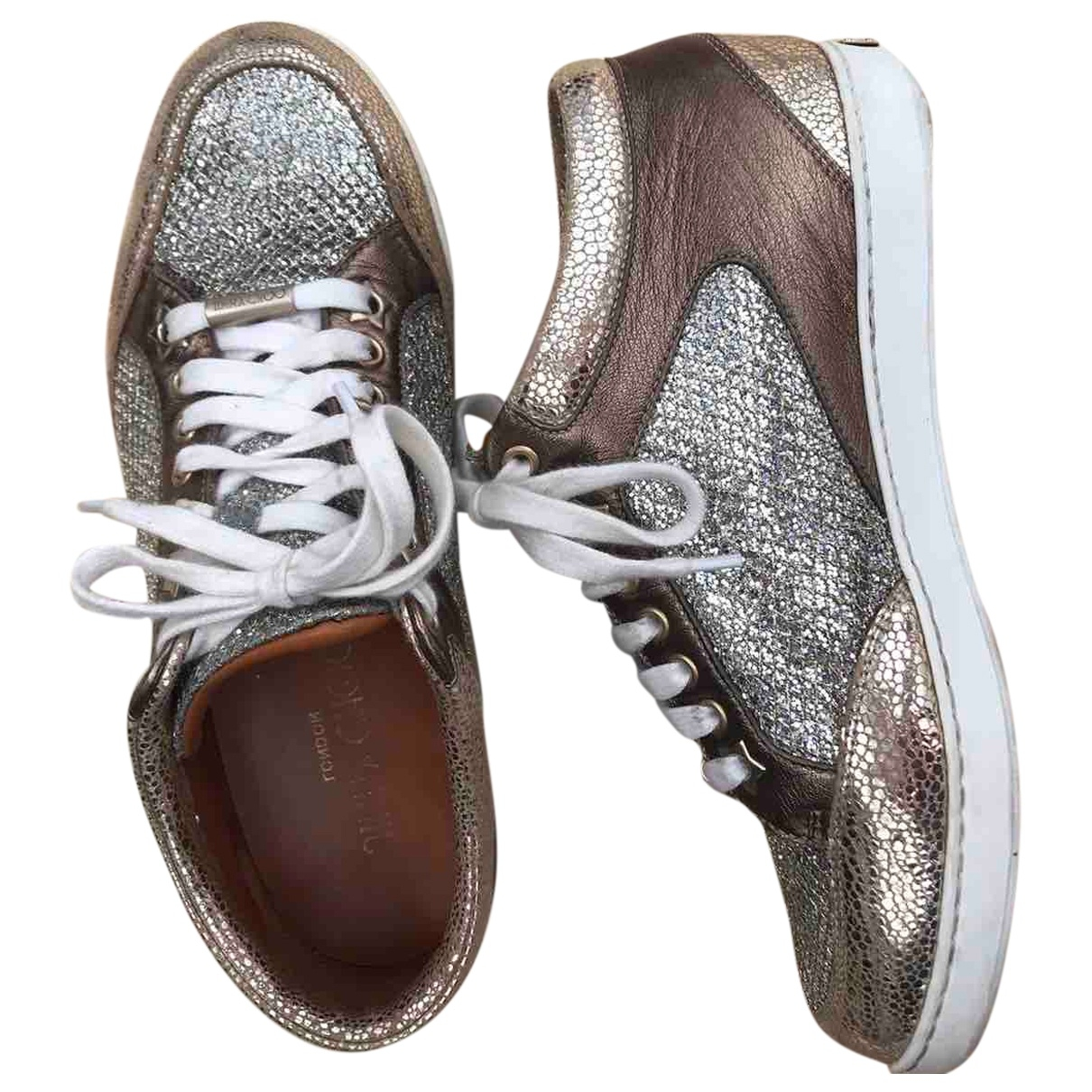 Jimmy Choo \N Gold Glitter Trainers for Women 37 EU