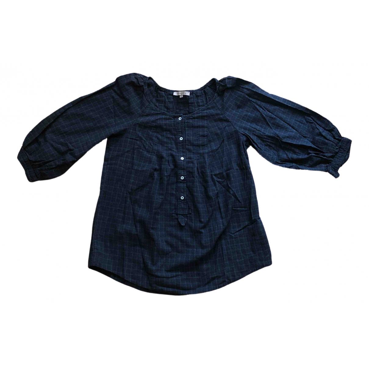 Sandro - Top   pour femme en coton - anthracite