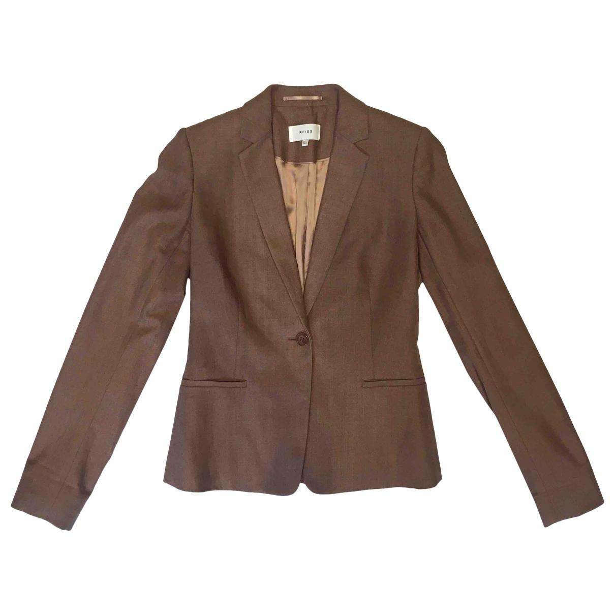 Reiss - Veste   pour femme en laine - rose