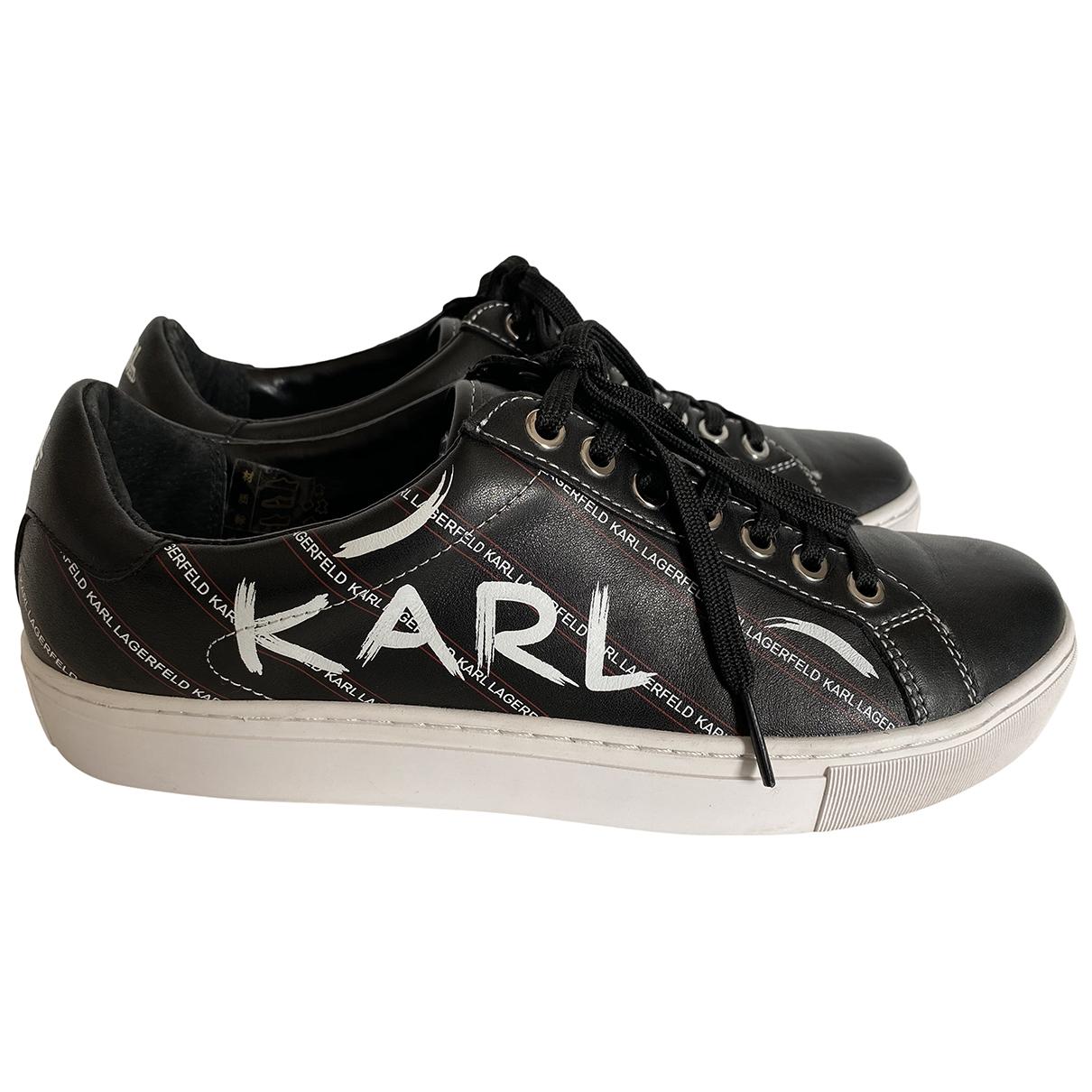 Karl \N Sneakers in  Schwarz Leder