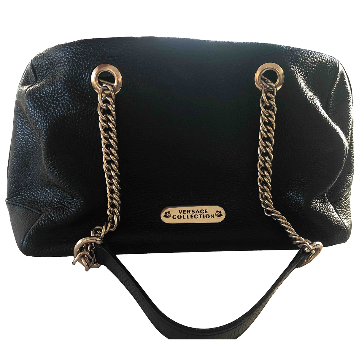Versace \N Black Leather handbag for Women \N