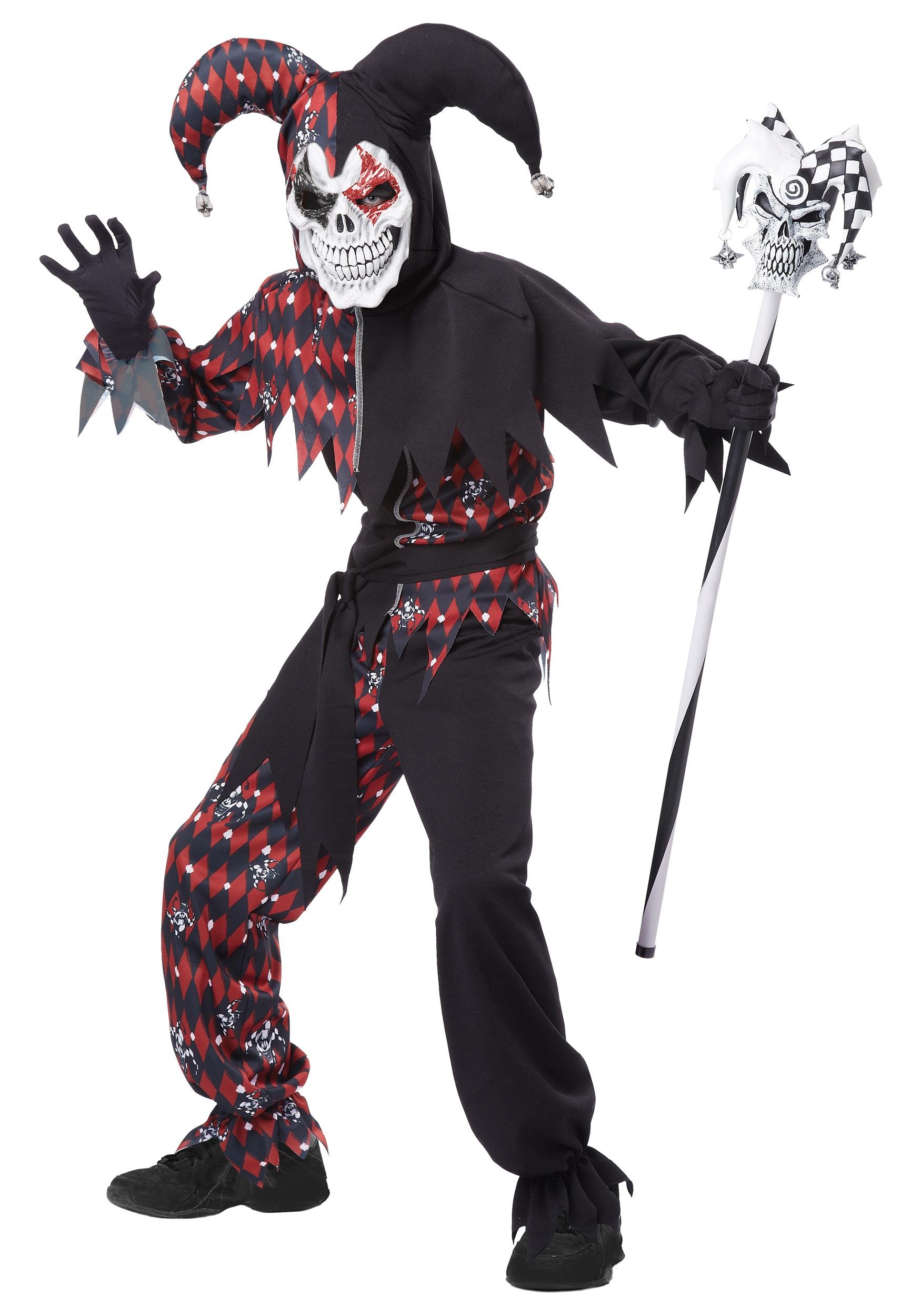 Sinister Jester Costume for Kids