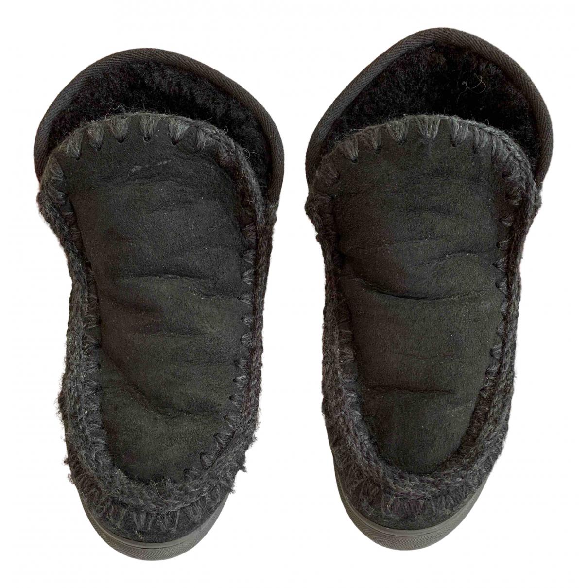 Mou - Bottes   pour femme en suede - noir