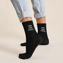 1 Paar Buchstaben Grafik Socken