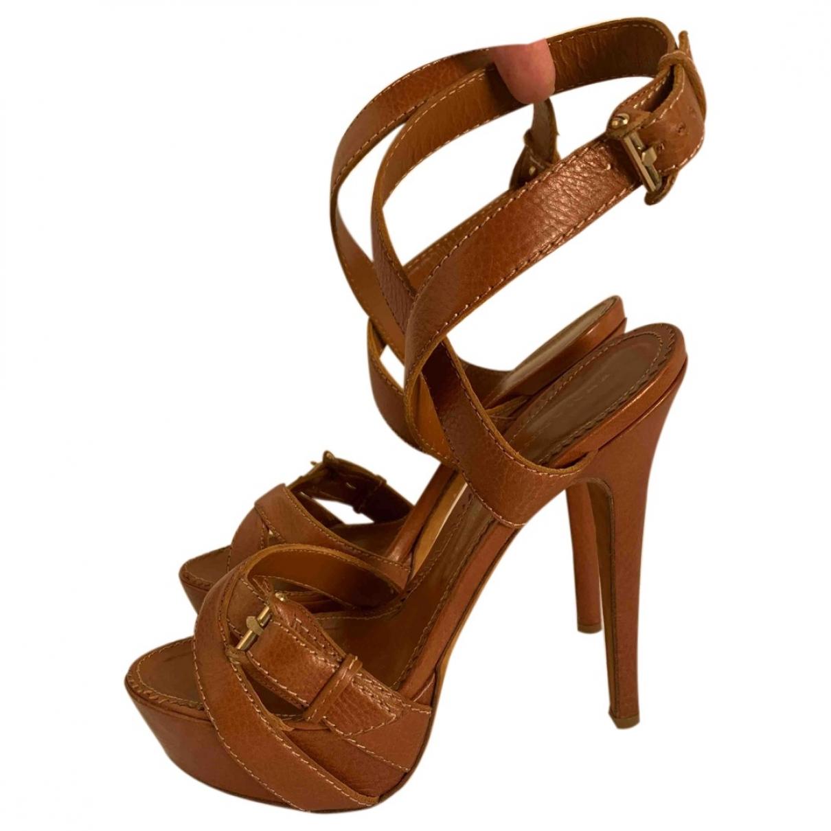 Ermanno Scervino - Sandales   pour femme en cuir - marron