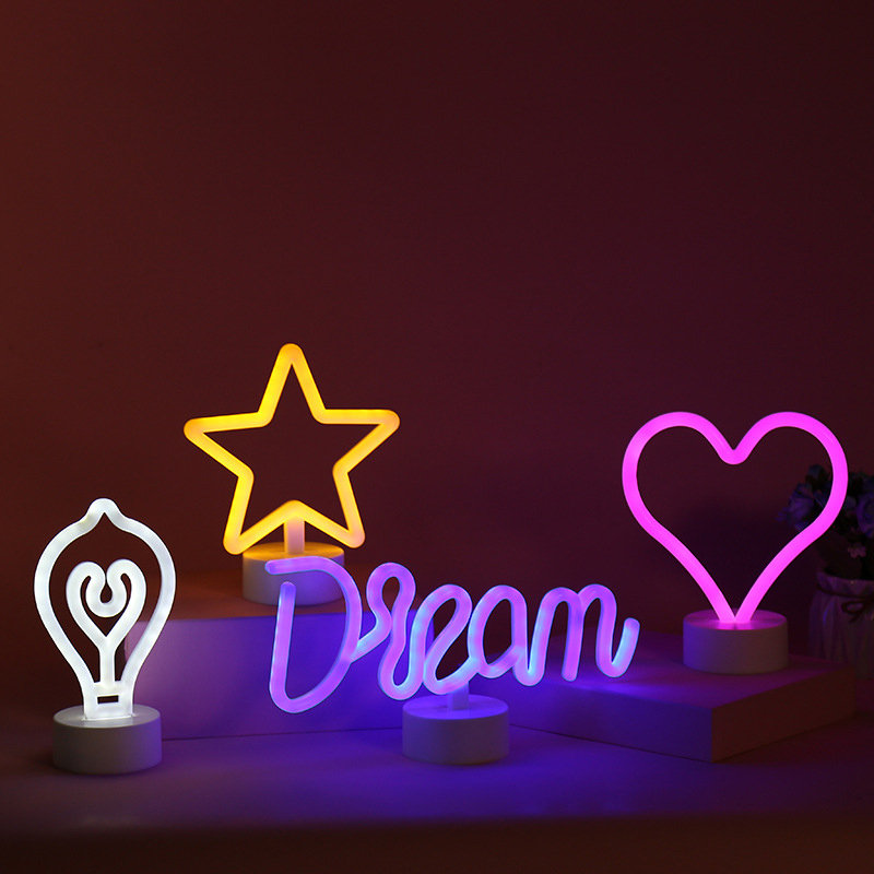 Rainbow Led Neon Light Sign Holiday Xmas Party Wedding Decorations Kids Room Home Decor