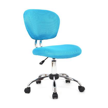 Chaise de bureau en tissu a la maison ou au bureau - Moustache@ - Bleu