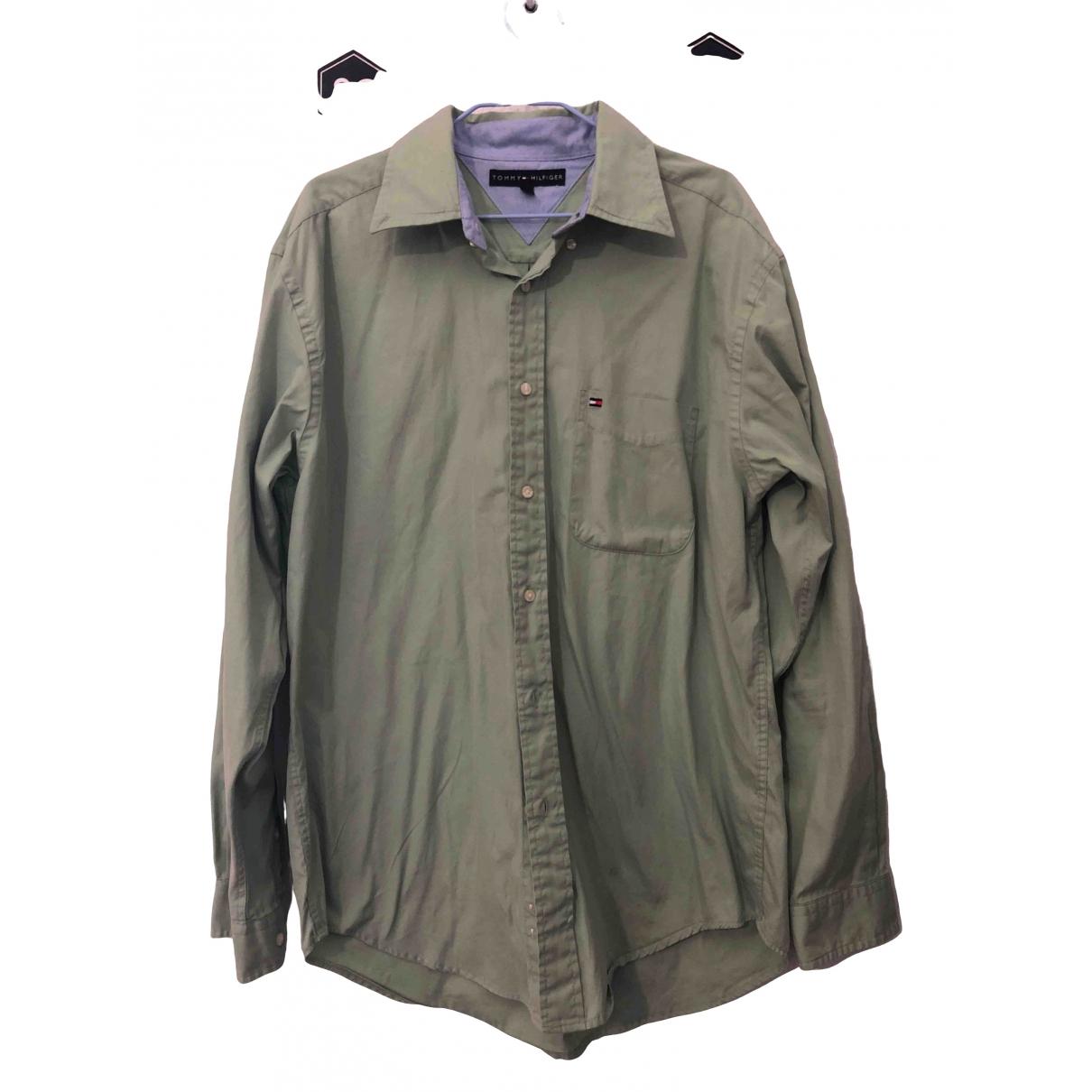 Tommy Hilfiger - Chemises   pour homme en coton - vert
