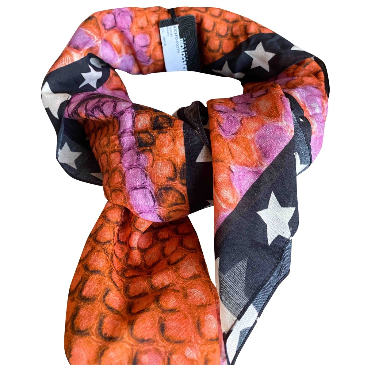 Just Cavalli \N Orange Silk scarf for Women \N