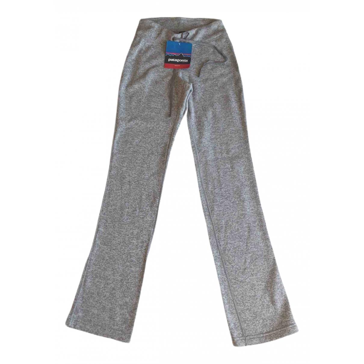 Pantalon en Algodon Gris Patagonia