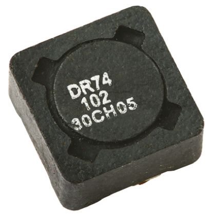 Eaton Bussmann Series , DR73/74/125/127, 74 Shielded Wire-wound SMD Inductor with a Ferrite Core, 470 μH ±20% Wire-Wound (5)