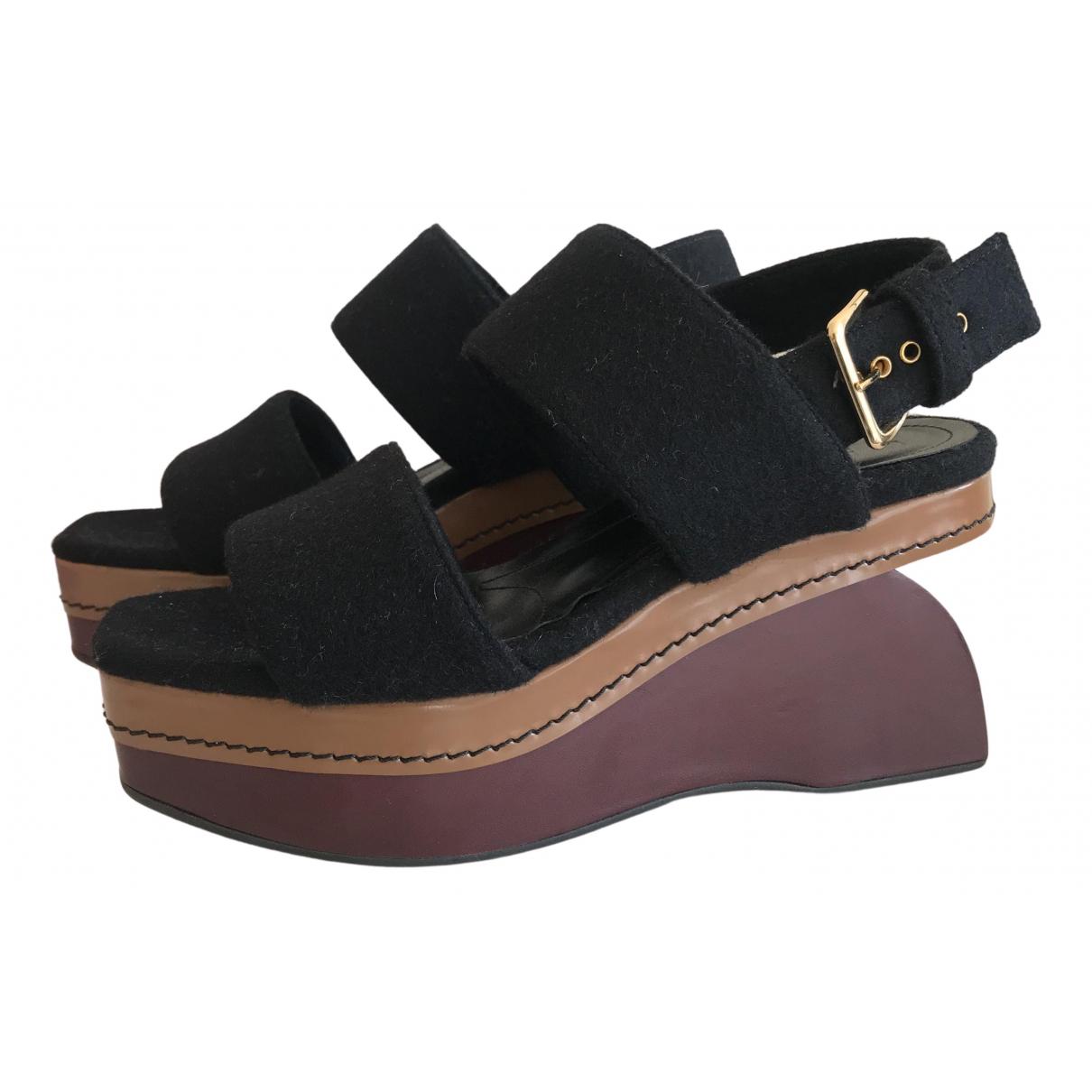 Marni \N Sandalen in  Schwarz Leinen