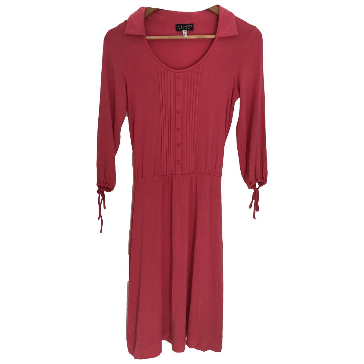 Armani Jeans \N Kleid in  Rosa Viskose